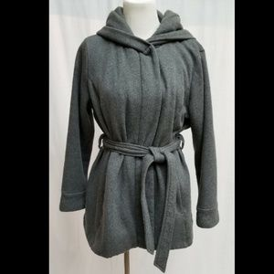 """Faded Glory Hooded Lined Coat - 16W - 48"""" Chest"""